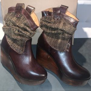 Beautiful Bed Stu wedge booties!  New in box.
